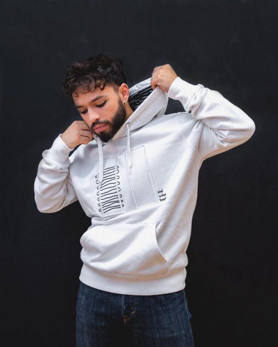 hoodie branca homem